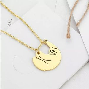 Jewelry - Gold sloth Necklace